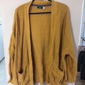 BDG oversized mustard yellow cardigan